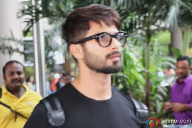 Shahid Kapoor at International Airport
