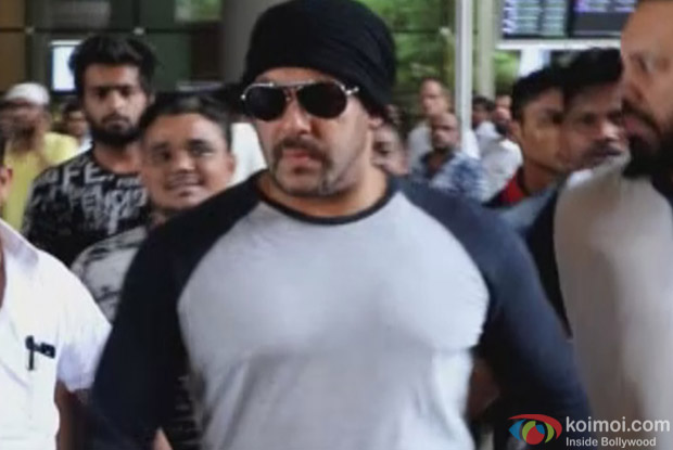 Salman Khan at International Airport