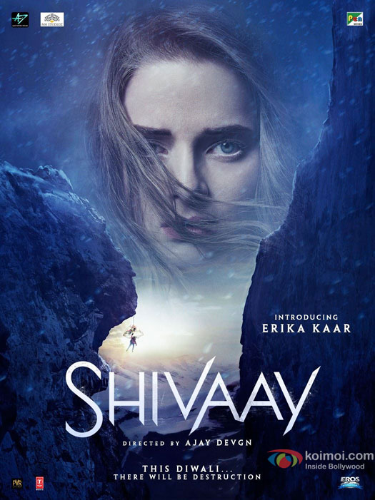 Erika Kaar in a 'Shivaay' Movie Poster