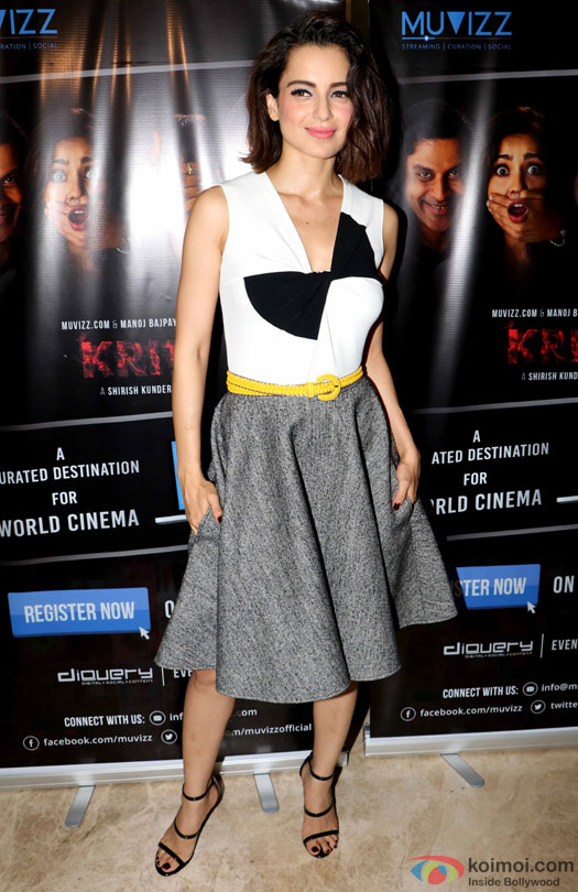 Kangana Ranaut during the world premiere of short film 'Kriti'