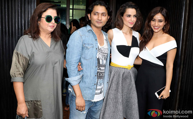 Farah Khan, Shirish Kunder, Kangana Ranaut and Neha Sharma during the world premiere of short film 'Kriti'