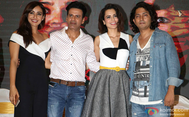 Neha Sharma, Manoj Bajpayee, Kangana Ranaut and Shirish Kunder during the world premiere of short film 'Kriti'