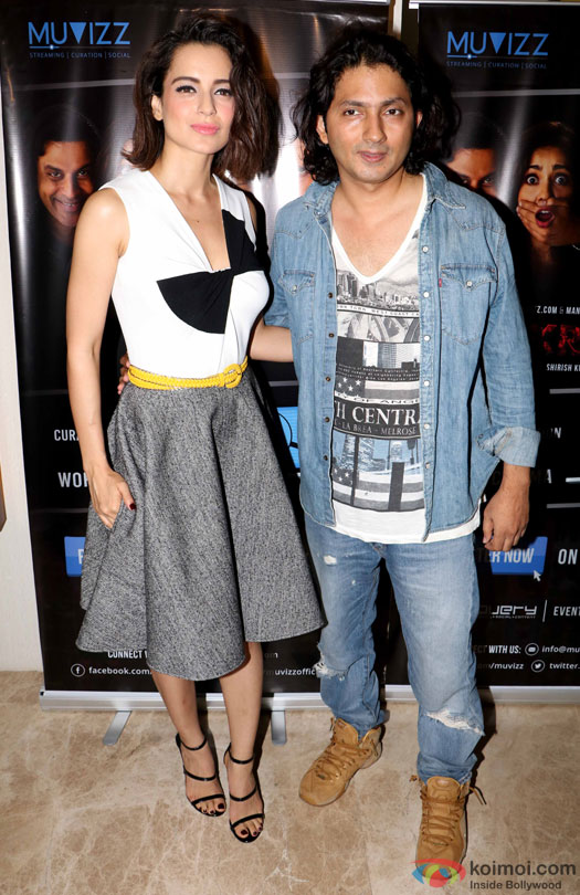 Kangana Ranaut and Shirish Kunder during the world premiere of short film 'Kriti'