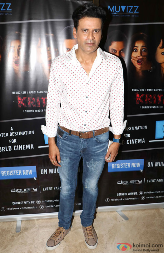 Manoj Bajpayee during the world premiere of short film 'Kriti'
