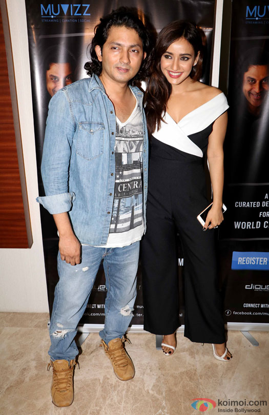 Shirish Kunder and Neha Sharma during the world premiere of short film 'Kriti'