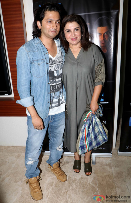 Shirish Kunder and Farah Khan during the world premiere of short film 'Kriti'