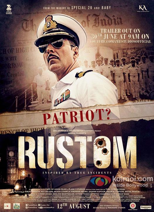 New Poster Of Rustom| Featuring Akshay Kumar As Navy Officer