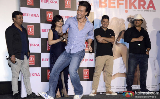 Tiger Shroff during the launch of 'Befikra' Song