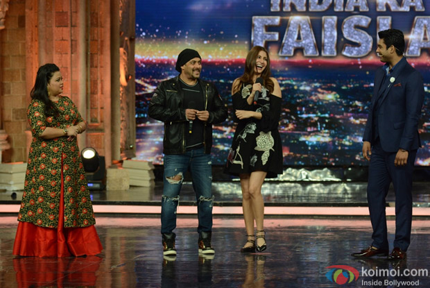 Salman Khan and Anushka Sharma on the sets of India's Got Talent