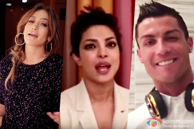 Jennifer Lopez, Priyanka Chopra and Cristiano Ronaldo Lip-sync To Enrique's Song