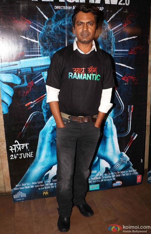 Nawazuddin Siddiqui during the special screening of film 'Raman Raghav 2.0'