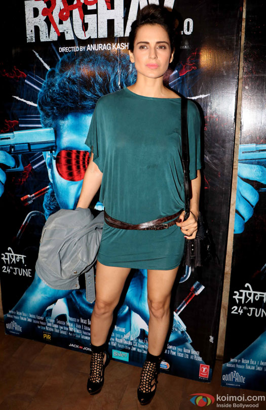 Kangana Ranaut during the special screening of film 'Raman Raghav 2.0'