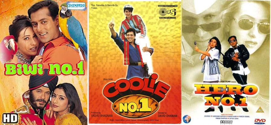 Remakes In The Pipeline: Coolie No 1, Hero No 1 & Biwi No 1