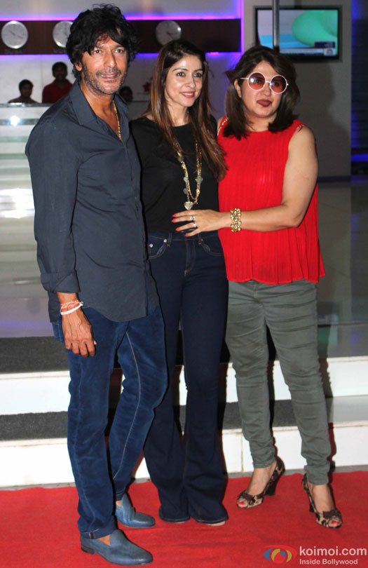 Chunky Pandey and Bhavna Pandey during the party for 'Housefull 3' hosted by Sajid Nadiadwala