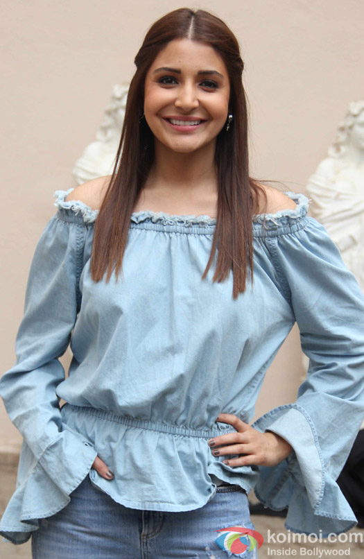 Anushka Sharma during during the press conference of movie Sultan