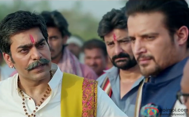 Jimmy Shergill and Ashutosh Rana in a still from movie 'Shorgul'