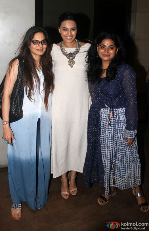 Swara Bhaskar during the special screening of film 'Nil Battey Sannata'
