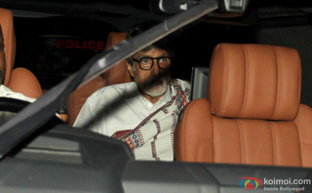 Amitabh Bachchan during the special screening of film 'Te3n' at Yashraj Studio