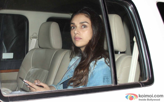 Aditi Rao Hydari during the special screening of film 'Te3n' at Yashraj Studio