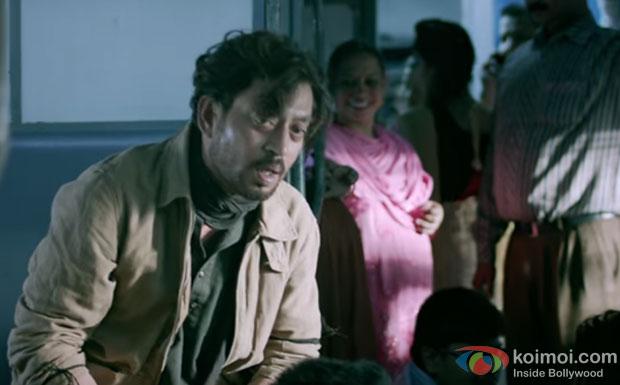 Irrfan Khan in a 'Dama Dama Dam' song still from movie 'Madaari'
