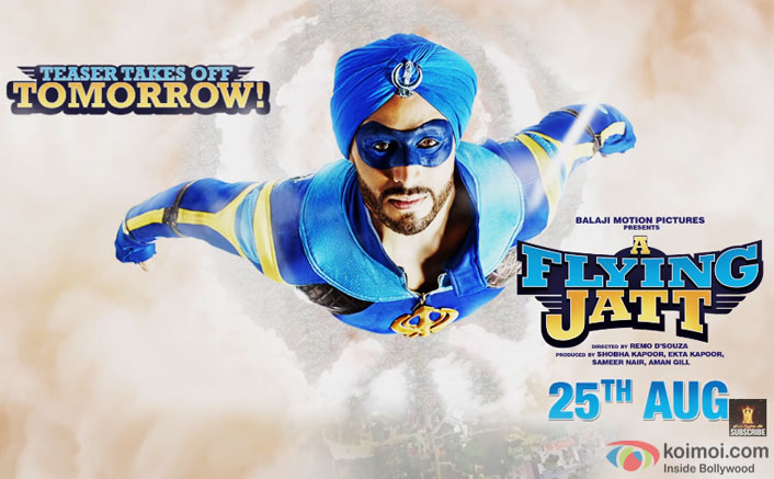 Tiger Shroff starrer A Flying Jatt motion poster