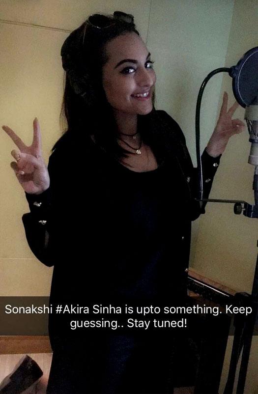 Akira Aka Sonakshi Sinha Snapped Recording A New Song