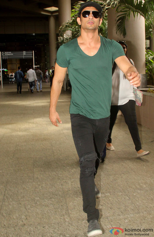 Sushant Singh Rajput spotted at Airport