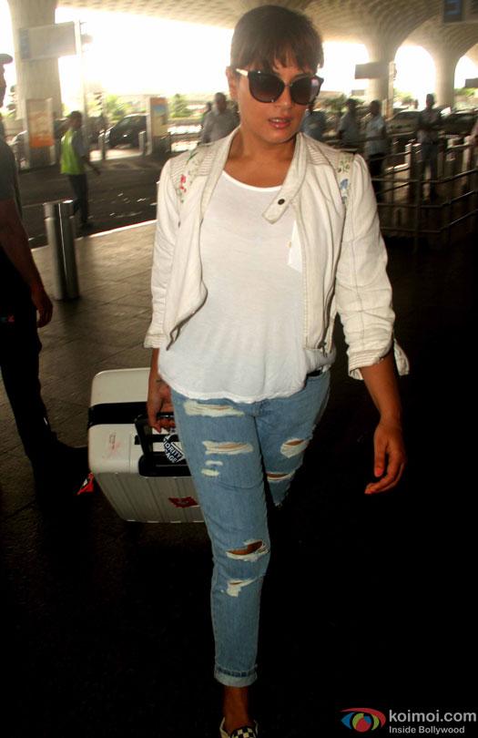 Richa Chaddha spotted at Airport