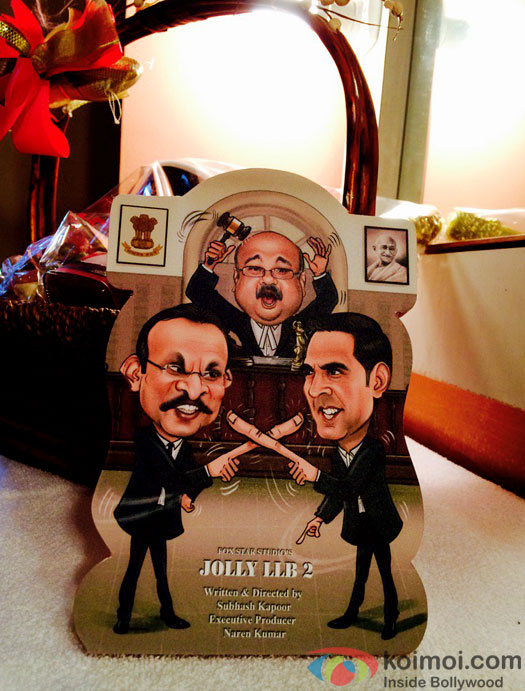 Check Out The Interesting Caricature 1st Look Of Akshay Kumar's Jolly LLB 2