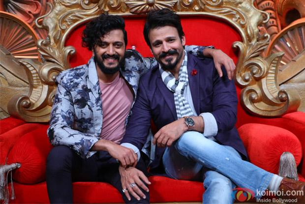 Ritesh Deshmukh and Vivek Oberoi on the sets of Comedy Nights Bachao