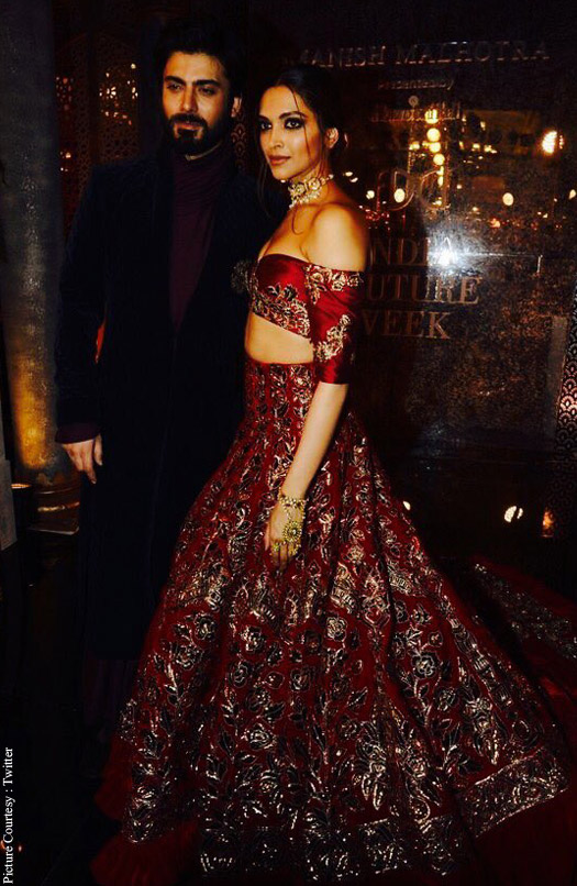 Deepika Padukone and Fawad Khan at India Couture Week 2016.