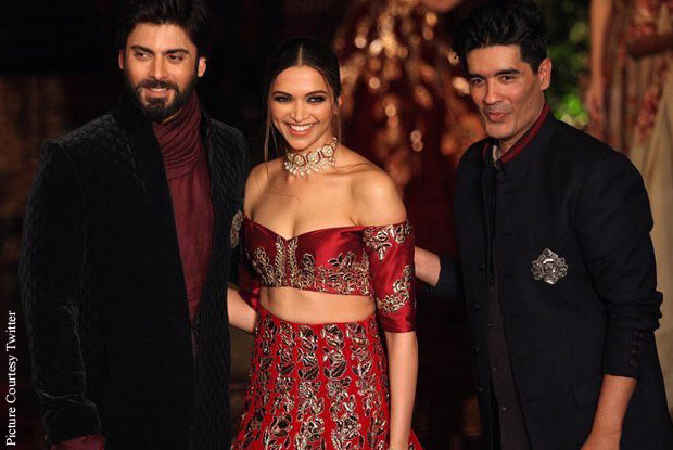 Deepika Padukone, Fawad Khan and Manish Malhotra at India Couture Week 2016.