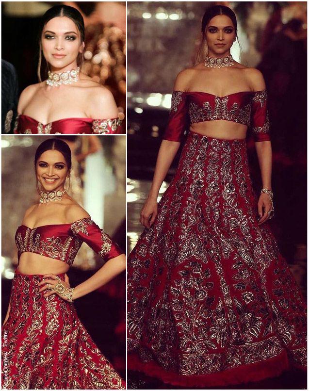 Deepika padukone during the India Couture Week 2016.