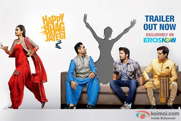 Diana Penty, Abhay Deol, Ali Fazal and Jimmy Shergill starrer Happy Bhag Jayegi trailer out
