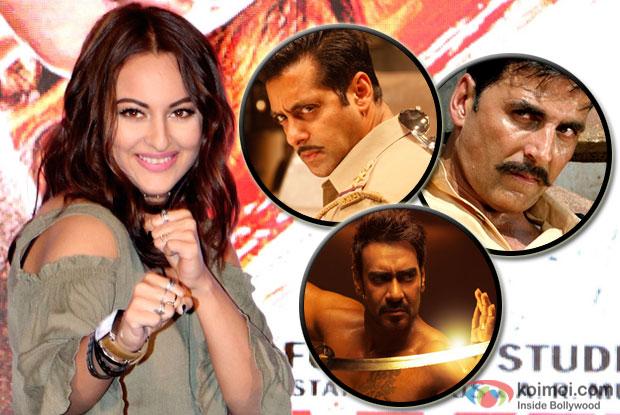 Learnt action from Salman Khan, Akshay Kumar, Ajay Devgn : Sonakshi Sinha