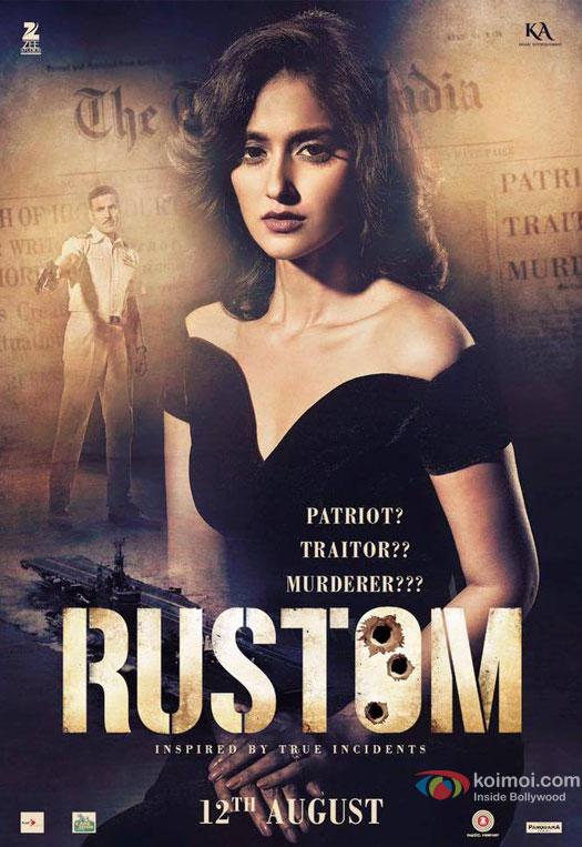Cynthia Pavri aka Ileana DCruz in a 'Rustom' Movie Poster