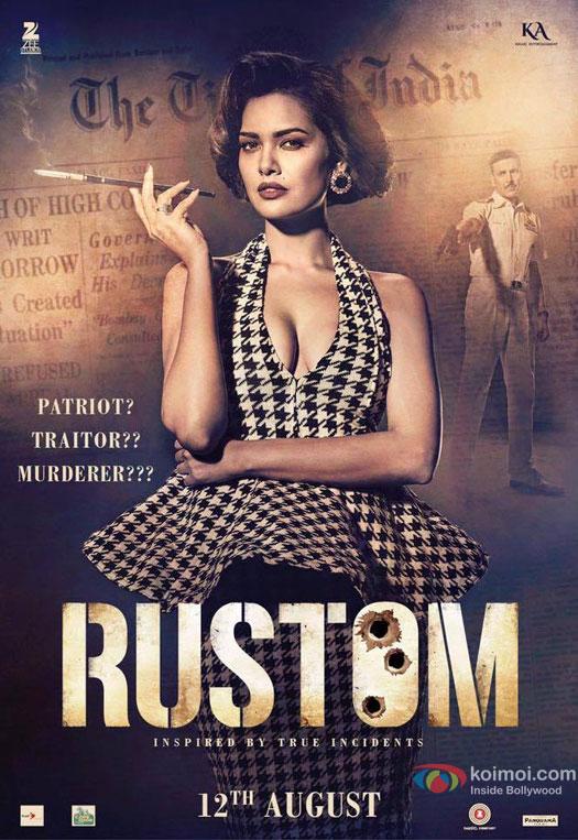 Priti Makhija aka Esha Gupta in a 'Rustom' Movie Poster