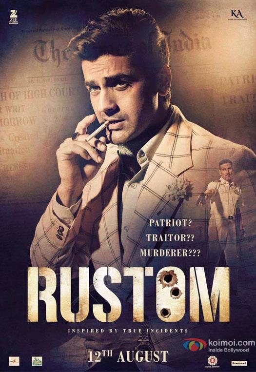 Vikram Makhija aka Arjan Bajwa in a 'Rustom' Movie Poster