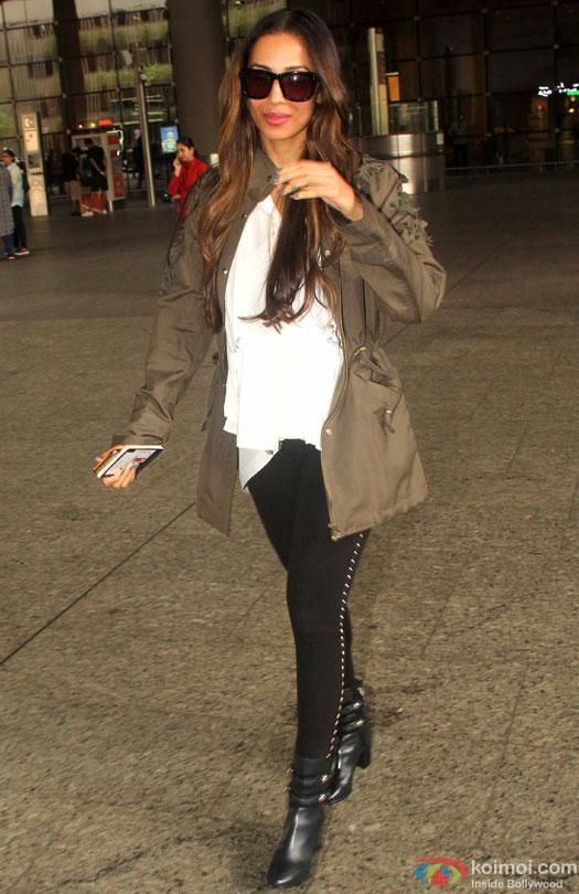 Malaika Arora Khan Spotted At Airport