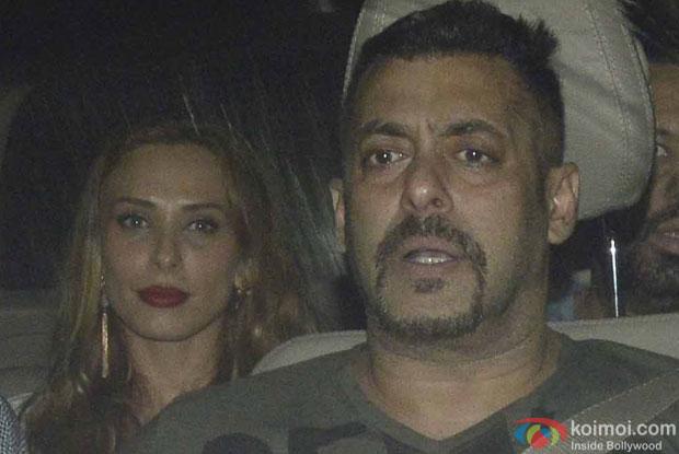 Iulia vantur and Salman Khan during the screening of sultan
