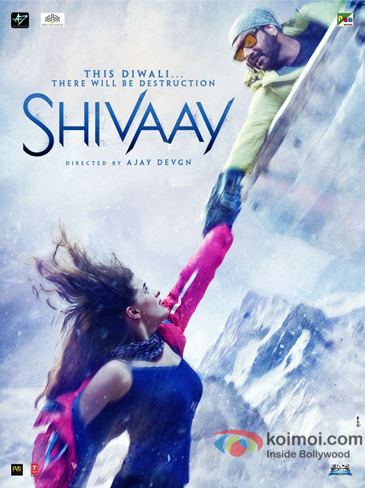 Shivaay Breathtaking New Poster Ft. Ajay Devgn And Erika Kaar