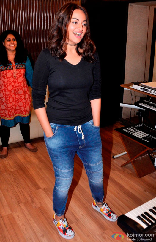 Sonakshi Sinha Snapped Recording A New Song For Fim Akira