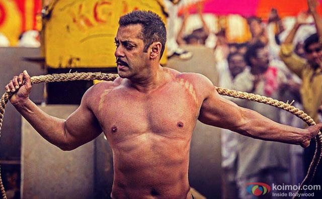 Salman Khan in a still from movie 'Sultan'