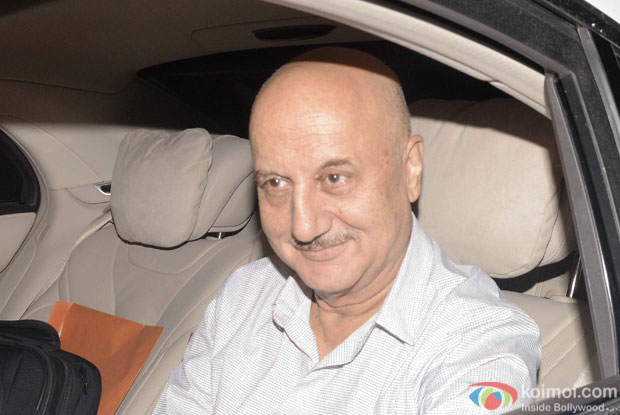Anupam Kher during the screening of sultan