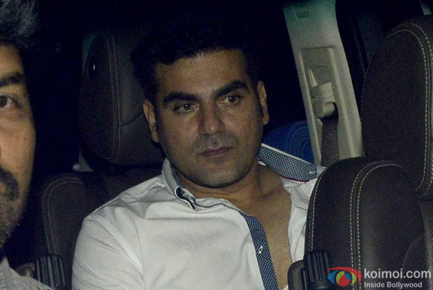 Arbaz Khan during the screening of sultan