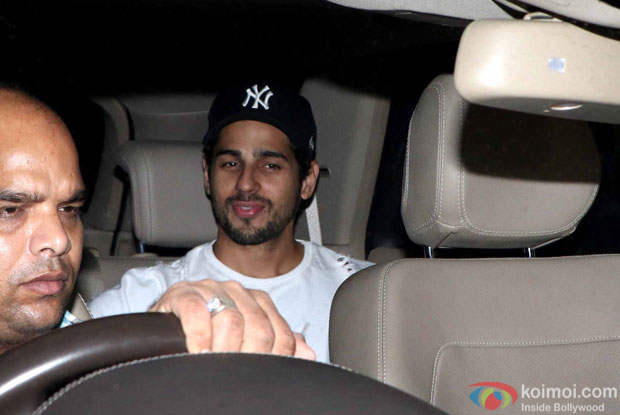 Siddharth malhotra during the screening of sultan