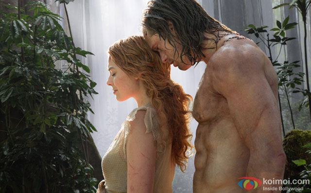Alexander Skarsgård and Margot Robbie in a still from movie 'The Legend of Tarzan'