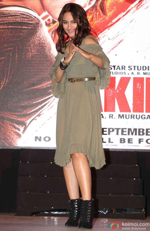Sonakshi Sinha during the trailer launch of film 'Akira'
