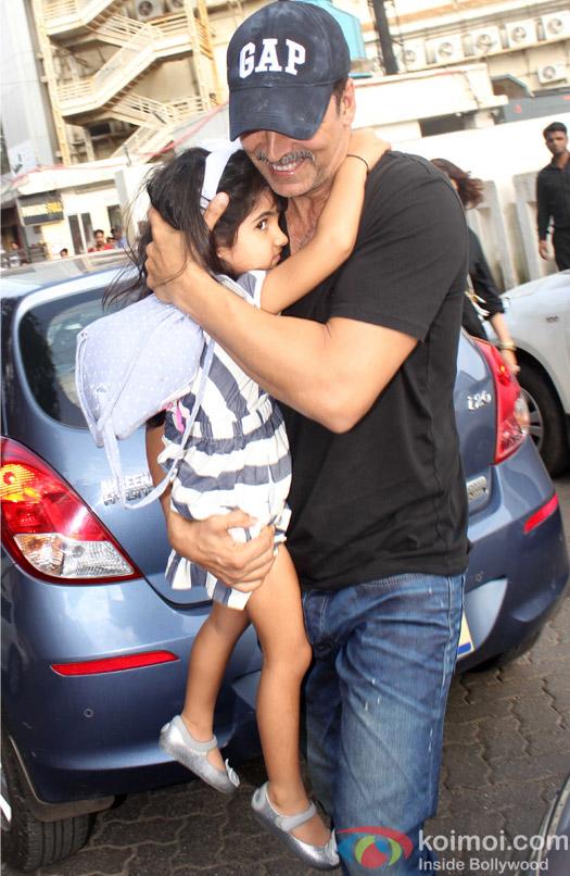 Akshay Kumar with Nitara spotted at PVR juhu