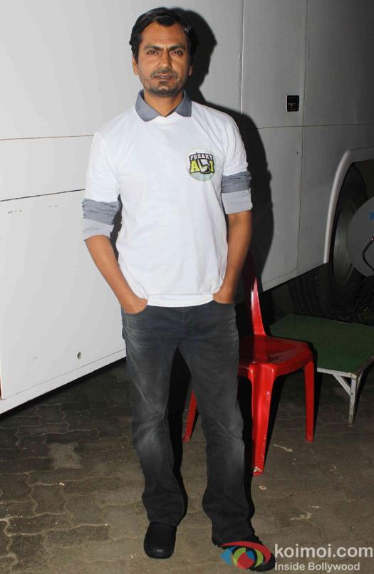 Nawazuddin Siddiqui spotted at mehboob studio
